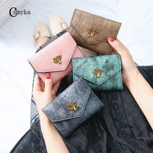 Small Wallet Women Purse Vintage Short Tree Girl Woman Wallets Card Bag New CUMYKA
