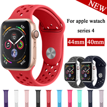 цена на Lbiaodai Silicone Strap for Apple Watch bands 42mm 38mm Sport Band Iwatch 4/3/2/1 44mm 40mm Bracelet Wrist smartwatch Watchband