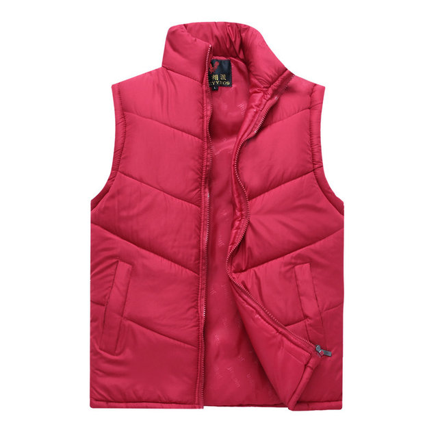 Spring Autumn Stylish Casual Mens Puffer Vest Coats Man Red Dark Blue Gray Black Warm Wadded Sleeveless Jackets Male Waistcoat