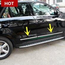 Para el Benz GL X166 Side Door Body Molding Ajuste de La Cubierta Exterior 2013-2015 4 unids