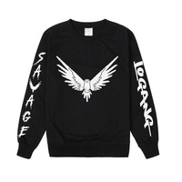 Pkorli Savage Maverick Hoodies Men Women Logang Jake Paul Crewneck Sweatshirt Casual Long Sleeve Maverick Bird