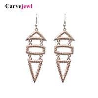 Carvejewl drop ohrringe zwei dreiecke rechteck anhänger Baumeln Ohrringe Für Frauen schmuck neue mode Europäischen ohrringe 2019 heißer