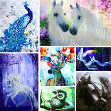 Dinamond Painting 5D diamond embroidery for Decoration Animals Design Round drill Floral Diamond Mosaic Wall Decor