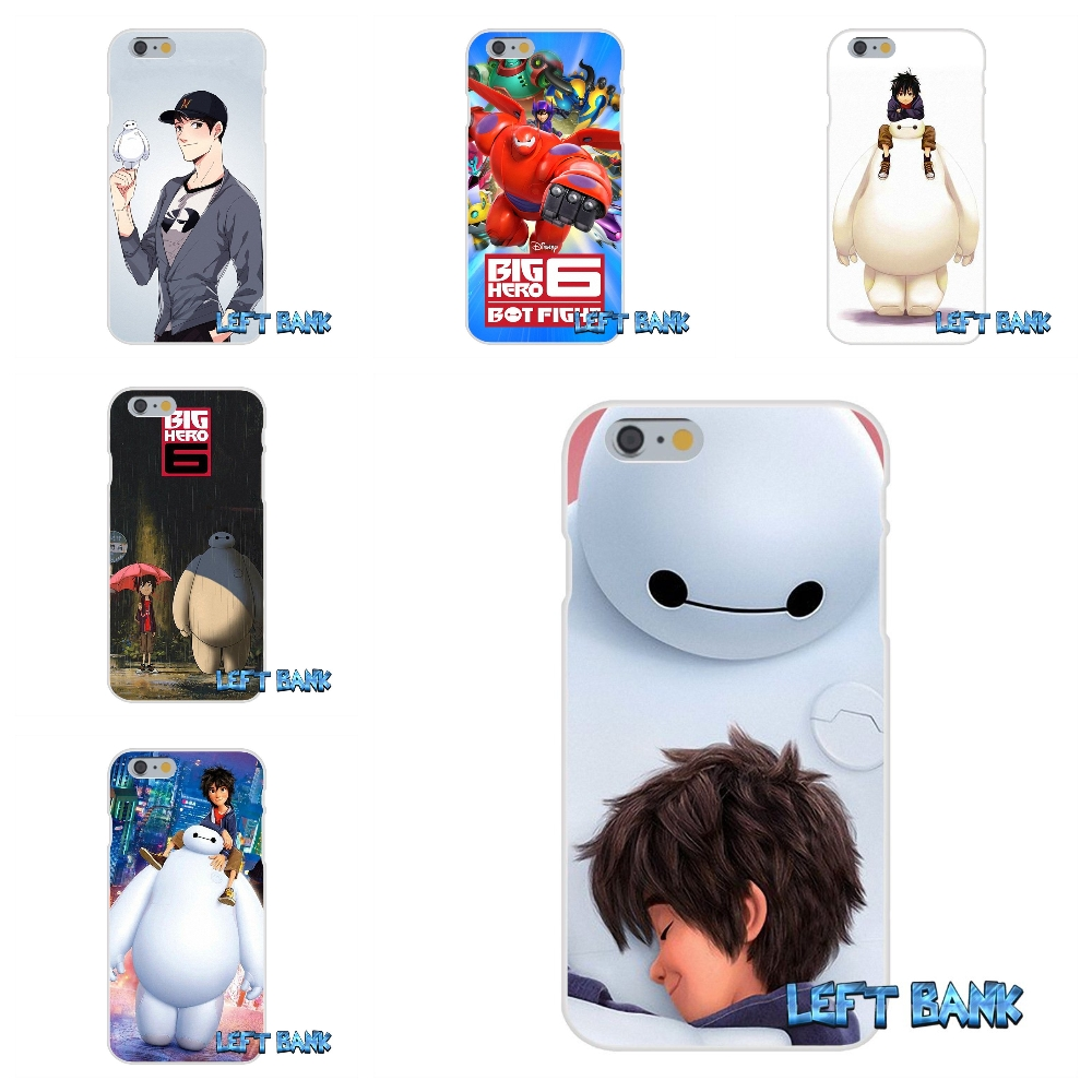 For iPhone 4 4S 5 5S 5C SE 6 6S 7 Plus Big Hero 6 Baymax Soft Silicone TPU Transparent Cover Case