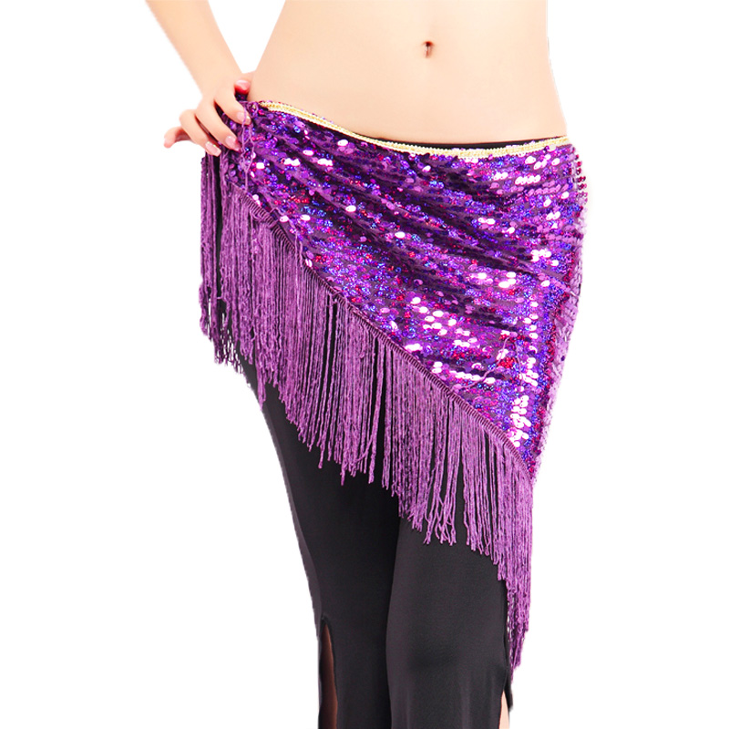 Wholesale Belly Dance Belt For Girls Belly Dance Hip Scarf Sexy Tassel Sequins Belly Dance Belt Women Belly Dance Clothing