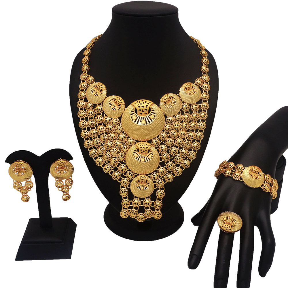 african gold jewelry sets best quality fine jewelry sets gold fashion jewelry women necklace wedding jewelry sets for bride
