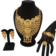 african gold jewelry sets best quality fine fashion women necklace wedding for bride
