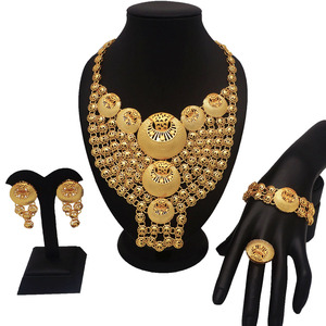 Image 1 - african gold jewelry sets best quality fine jewelry sets gold fashion jewelry women necklace wedding jewelry sets for bride