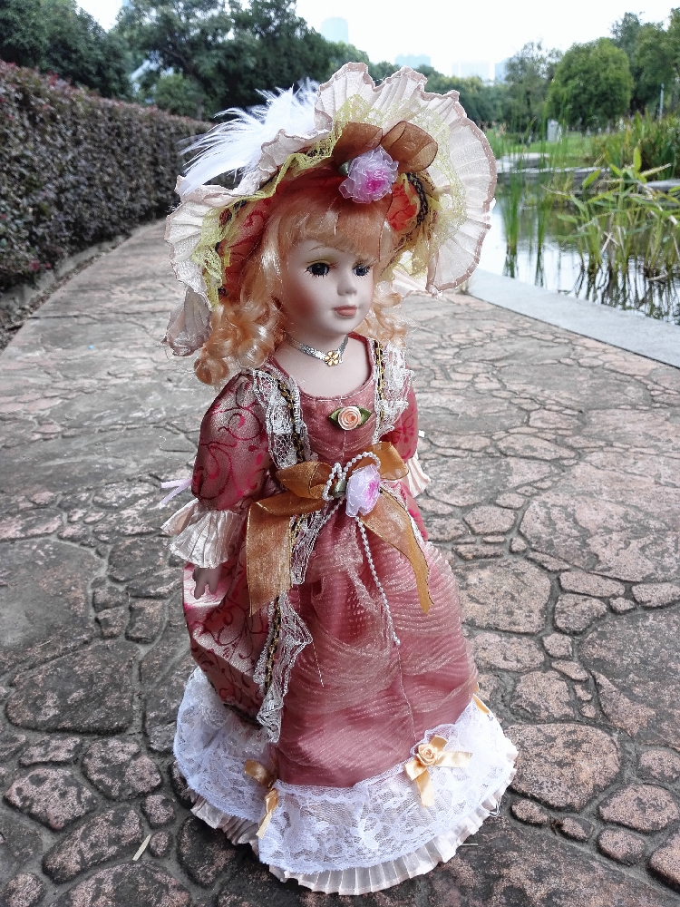41cm Russian Porcelain Doll Girl 16 inches Lovely Ceramics
