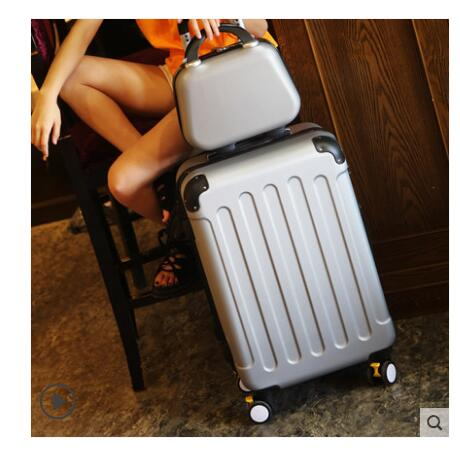 Brand 20 inch 24 inch rolling luggage Case Spinner Case Trolley Suitcase Women Travel Luggage Suitcase Boarding wheeled Case-in Travel Bags from Luggage & Bags    2