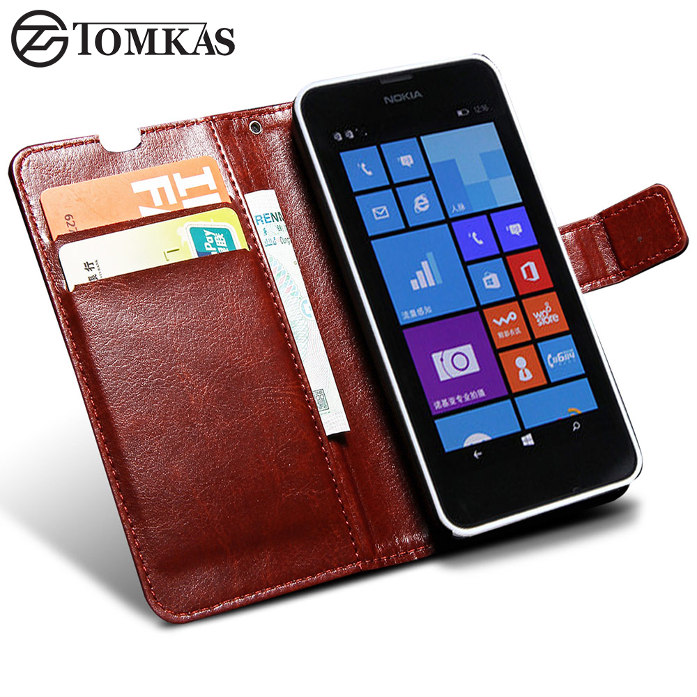 PU Leather Cover Case For Lumia 630 635 Flip Wallet Cover