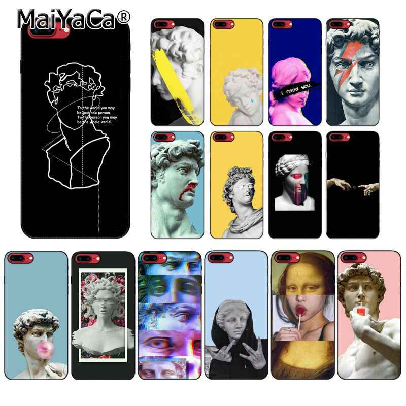 MaiYaCa Abstract Art Lines funny Vintage Plaster Statue David Art PhoneCase For iphone 11 Pro 8 7 6 6S Plus 5S SE XR X XS MAX