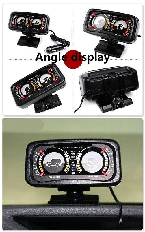 Compteur de terrain d'indicateur de pente de compteur d'équilibre de boussole automatique de voiture avec lumière LED pour le véhicule tout-terrain SUV