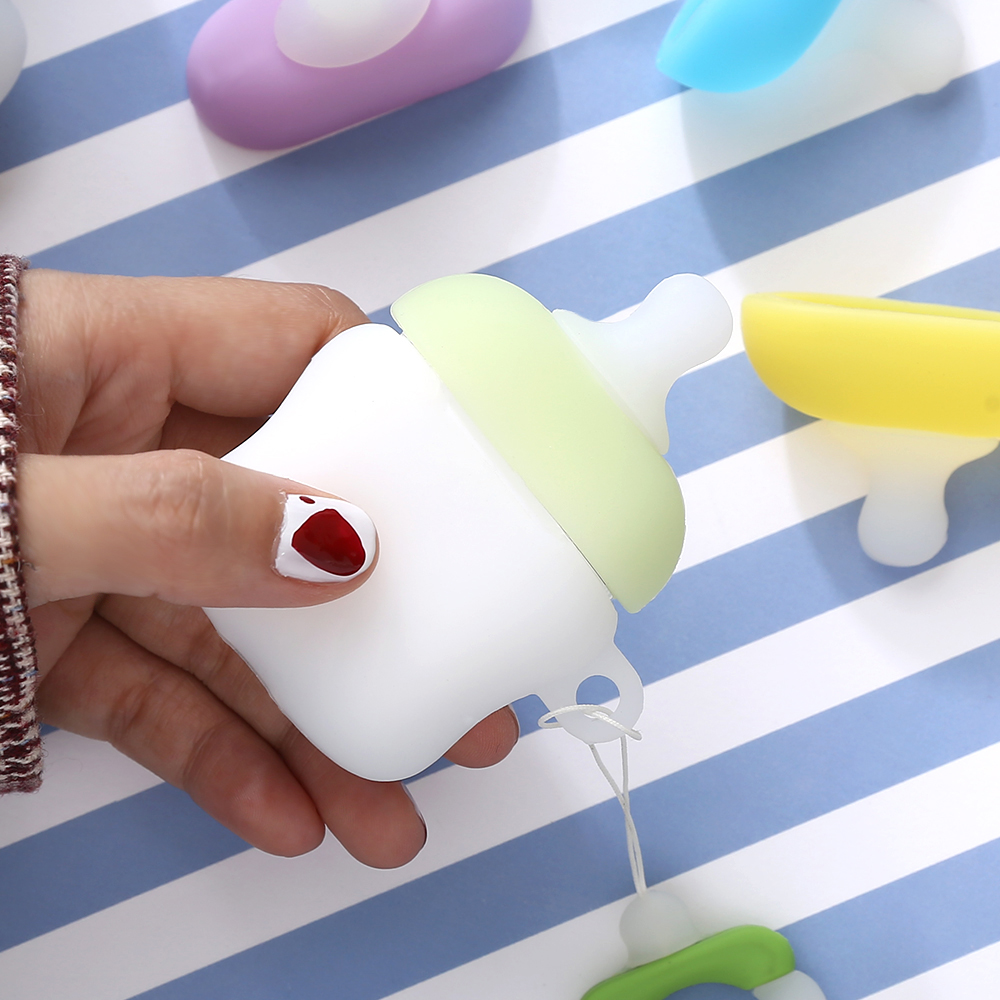 Image 4 - Applicable to Airpods1 bottle silicone case AirPods2 skin protection cover Bluetooth wireless headset box pacifier-in Earphone Accessories from Consumer Electronics