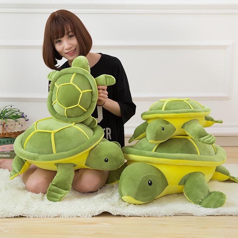 1pcs Creative Cute Cartoon Tortoise Pillow Toys Fashion Home Decoration Textile Soft Plush Bedding Pillows Great Birthday Gift