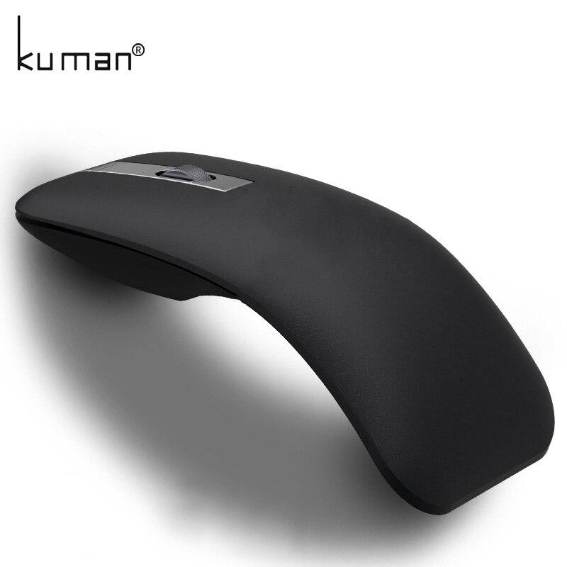 Куман Беспроводной Мышь 2,4 г компьютер складная дорожная Тетрадь Mute Мышь мини мыши USB Nano приемник для ноутбука Desktop YLM-B002