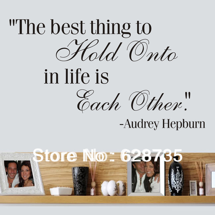 Ebay hot free shipping audrey hepburn wall quotes the best for Life is good home decor