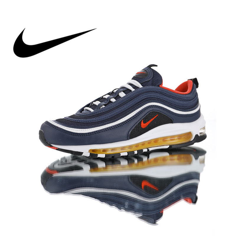 Original Nike Air Max 97 Midnight Navy Men Running Shoes Sneakers Outdoor Sports Athletic Footwear Good Quality BreathableOriginal Nike Air Max 97 Midnight Navy Men Running Shoes Sneakers Outdoor Sports Athletic Footwear Good Quality Breathable