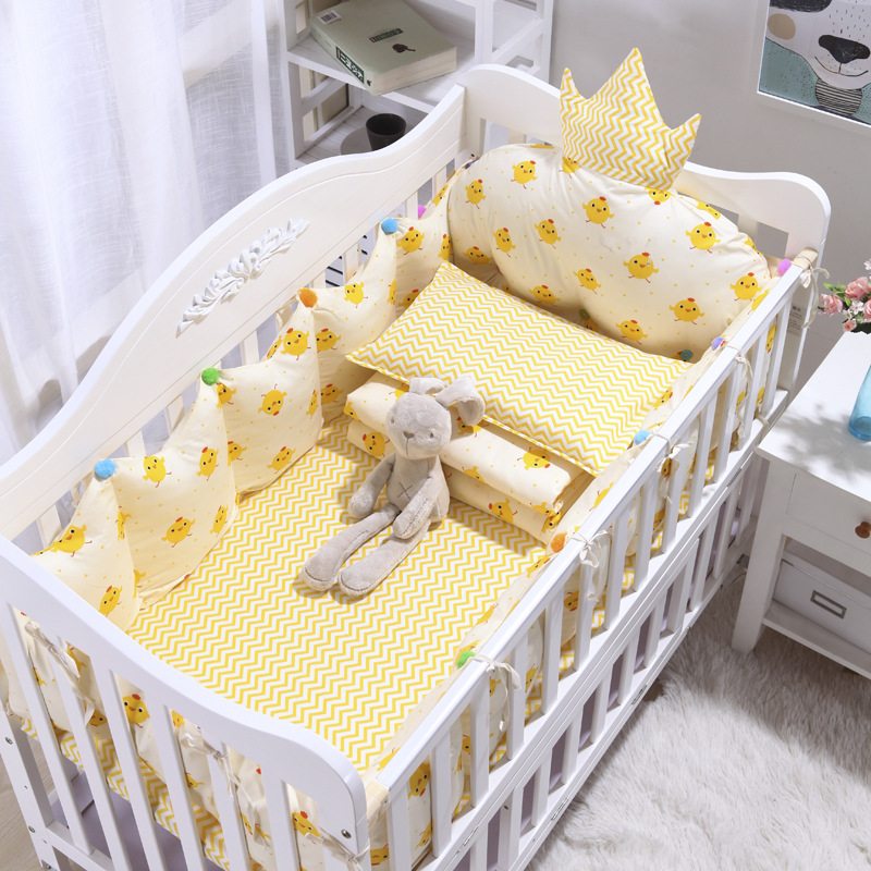 4pcs Cotton INS Crown Type Cradle Protector Barrier For Bed Baby Bedroom  Bed Linen  Baby Room Decoration Bed Decor (3)