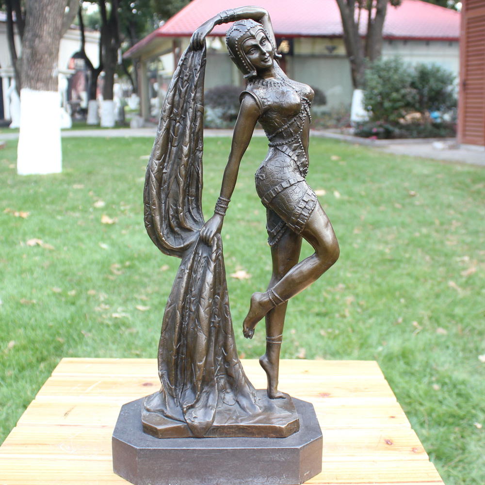 Beauty girl statue bronze crafts jewelry a birthday gift Home Furnishing hotel decoration decorationBeauty girl statue bronze crafts jewelry a birthday gift Home Furnishing hotel decoration decoration