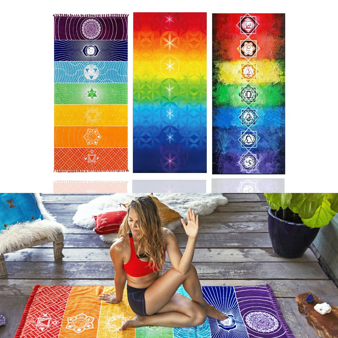 150x70 cm Rectangle gland tapisserie imprimé bohème serviette de plage femmes Yoga tapis décor à la maison tapis