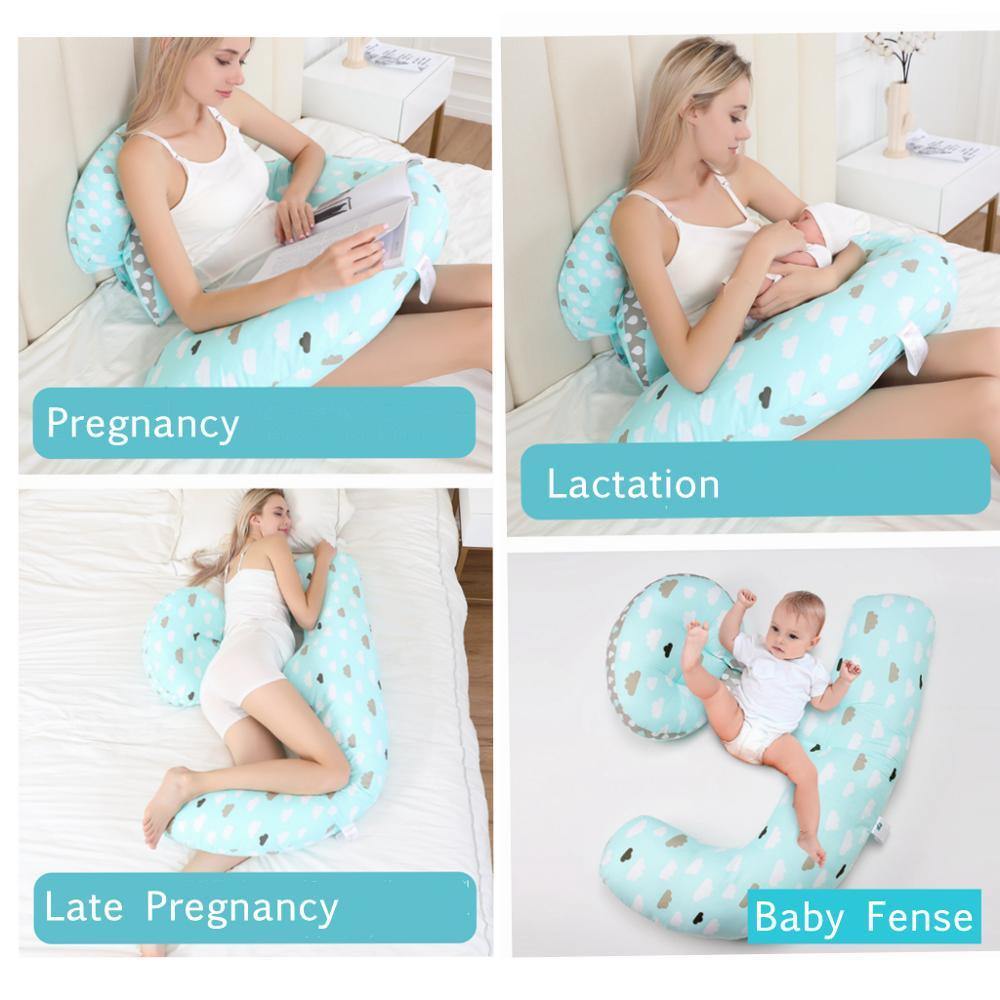 Women Pregnancy Pillow Maternity Pregnant Full Body Side Sleeping Support USA