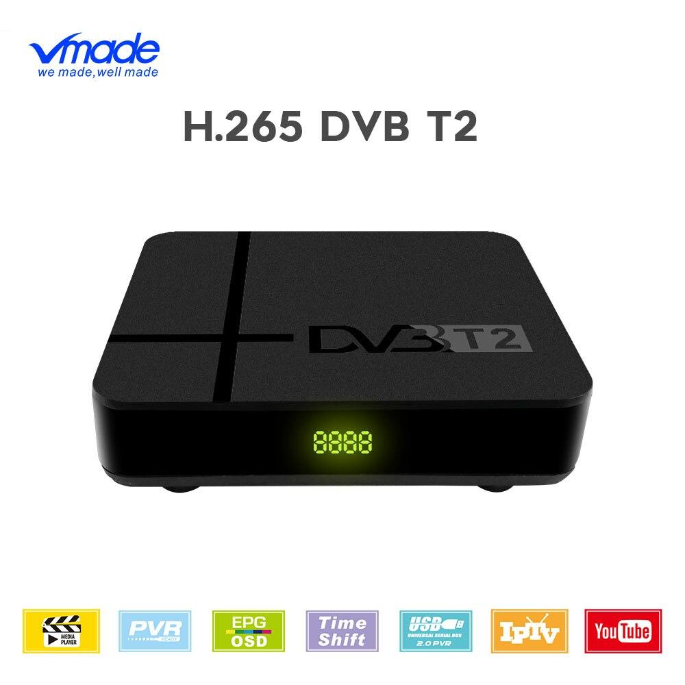 DVB-T2 TV Tuner récepteur terrestre Full HD 1080P décodeur TV Tuner support ont réseau H.265 Dolby YOUTUBE IPTV décodeur