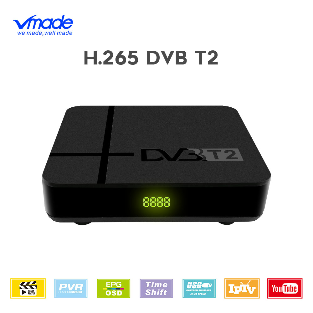 DVB-T2 TV Tuner Terrestrial Receiver Full HD 1080P Decoder TV Tuner support have network H 265 Dolby YOUTUBE IPTV set top boxes