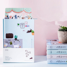Kawaii Notebook Agenda Planer Diary Journal Weekly Monthly Planner Agenda Cute Cat Book School Office Supplies Stationary Gifts shining fruits cute monthly weekly planner agenda diary journal notebook pvc cover water sequins inside