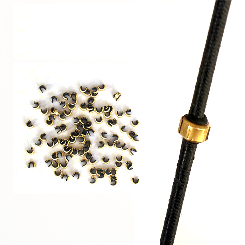 Point Brass Nock Bow Hunting Hunter String Nock Set Protective Plastic Lined For Take Down Bow Or Wooden Bow