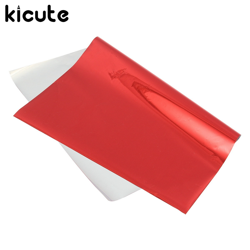 Kicute 50pcs/lot A4 Red Hot Stamping Transfer Foil Paper Laminator Laminating Laser Printer Business Card Calendar 20*28cm