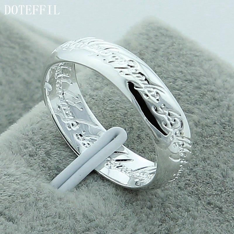 DOTEFFIL 925 srebrni prsten od skulptura od čarobnjaka za vjenčani - Fine nakit - Foto 5
