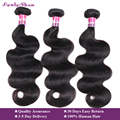 2019 Lynlyshan Maleisische BodyWave 1/3/4 Bundels Human Hair Extensions Natuurlijke Kleur 10-30 Inches Remy menselijk Haar Weave 95-100g
