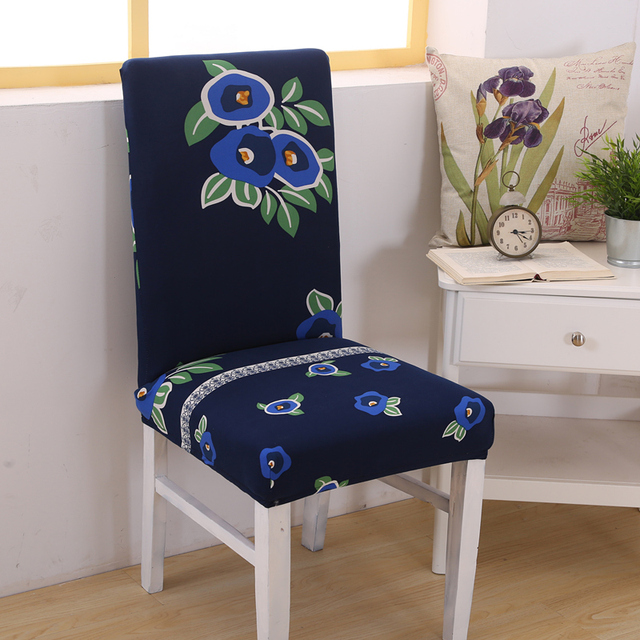3PCS Flower Printing Chair Cover For Weddings Party Dining Office Home  Decor Fashion New Floral Chair Covers Blue Beige Pink