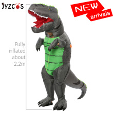 JYZCOS Adult Inflatable Dinosaur Costume t-rex Cosplay Halloween for Women Men Party