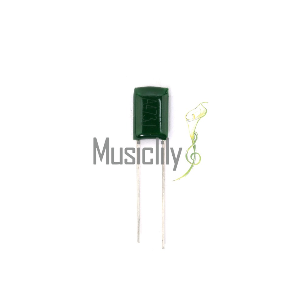 Musiclily Four Models Polyester Tone Film Capacitors for Fender Strat Stratocaster Tele Electric Guitar, Green (Pack of 10)