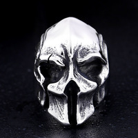 Ring Personality Retro Mask Men Titanium Steel Ring SR1028