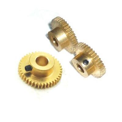 Медь 0.8m51 зуб 0.8 модуль латунь боссы точность 6 модель Миниатюрные электродвигатели DIY небольшой модуль шестерни