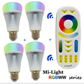 New 8W Mi Light LED Bulb Lamp Light Dimmable E27 RGB CCT Spotlight Indoor Decoration + 2.4G RF Wireless Remote Control