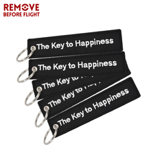 5 PCS/LOT Fashion Chaveiro The Key to Happiness Tag Chain Bijoux Keychain for Motorcycles Gifts Fobs Ring