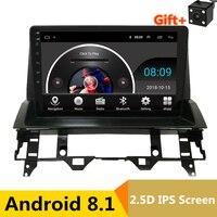 9 2.5D ips Android 8,1 Автомобильный мультимедийный dvd плеер gps для Mazda 6 2002 2006 2007 2008 2009 аудио автомобиля Радио стерео навигации