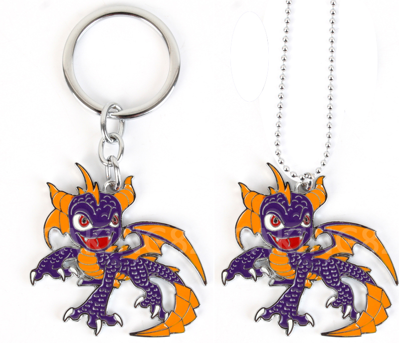 Adventure Game Spyro the Dragon Figure Petitmon Spyro Necklace Keychain Collection Pendant Toys Free Shipping image