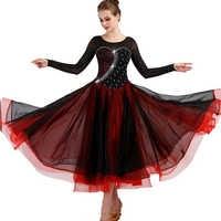 Vestidos de baile de competición de salón para mujeres 2019 nuevo diseño barato falda de baile Flamenco elegante vestido de Salón Estándar de señora