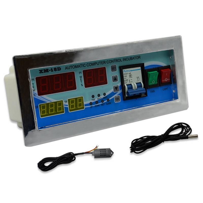 XM 18D Automation Incubator Controller Thermostat Hygrostat With Temperature Humidity Sensor For Egg Brooder AC 110V 220V 50Hz
