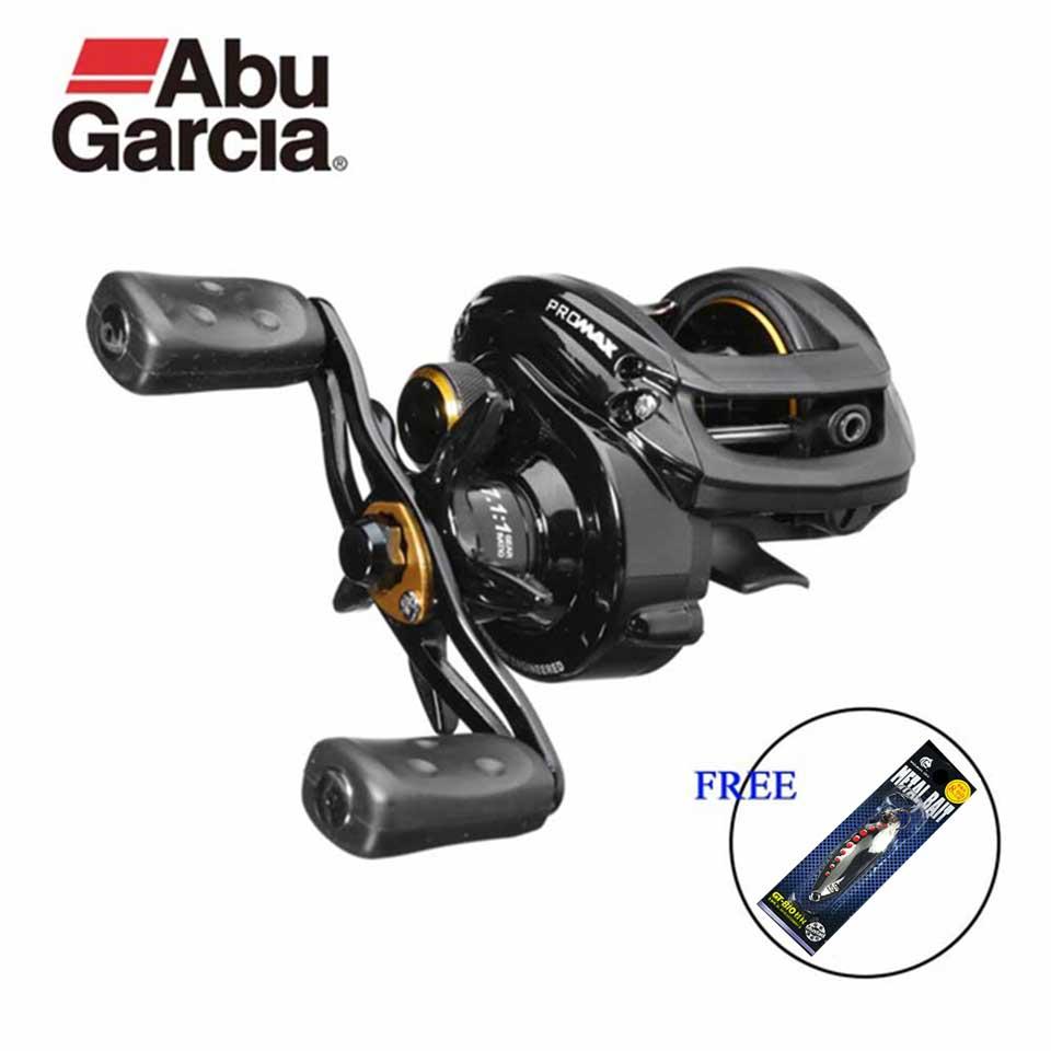Abu Garcia Pro Max Angeln Reel Low Profile baitcasting-rollen Wasser Drop Rad 7,1: 1 8 KG Power 7 + 1BB erhalten Orginal Locken freies