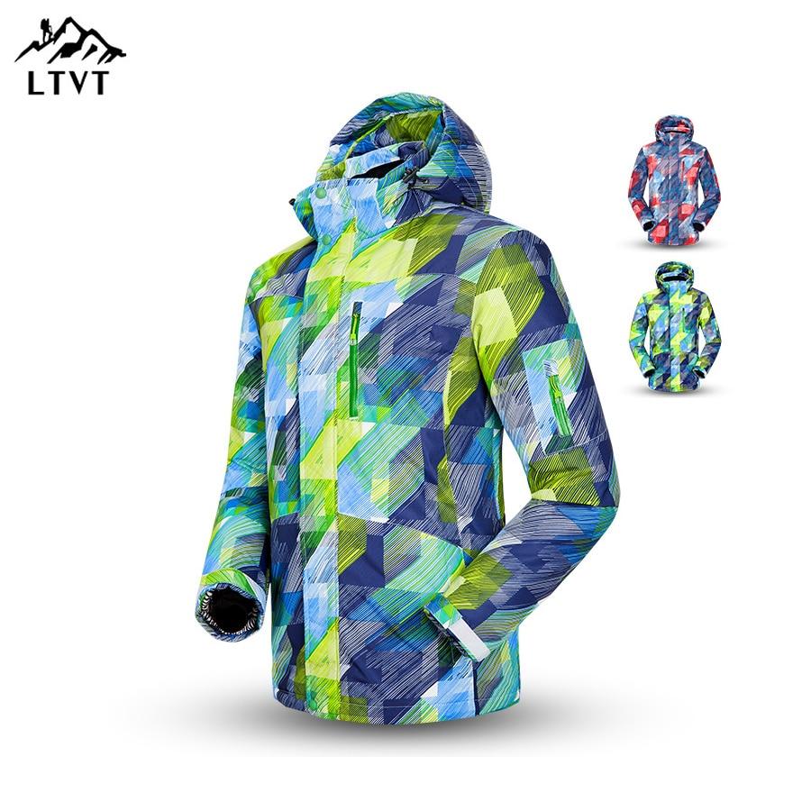 Prix pour Hiver En Plein Air-Sport Snowboard Ski Jacke Hommes de Haute qualité de Ski Vestes Wasserdicht Winddicht Respirant Chaud À Capuche