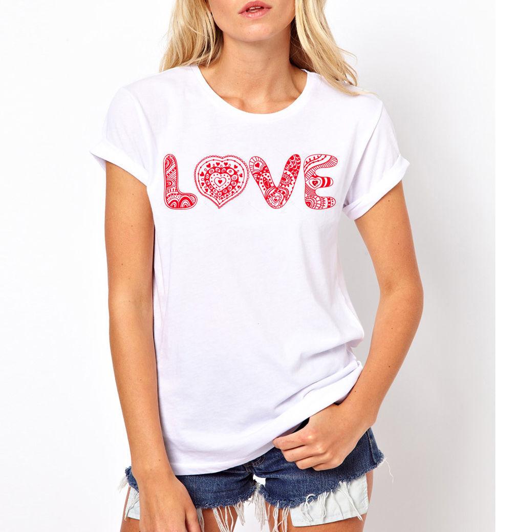 Shirt design china - Design Women S T Shirt Women Girl Love Casual Fashion Funny Heart Phrases Quotes Valentine T Shirt