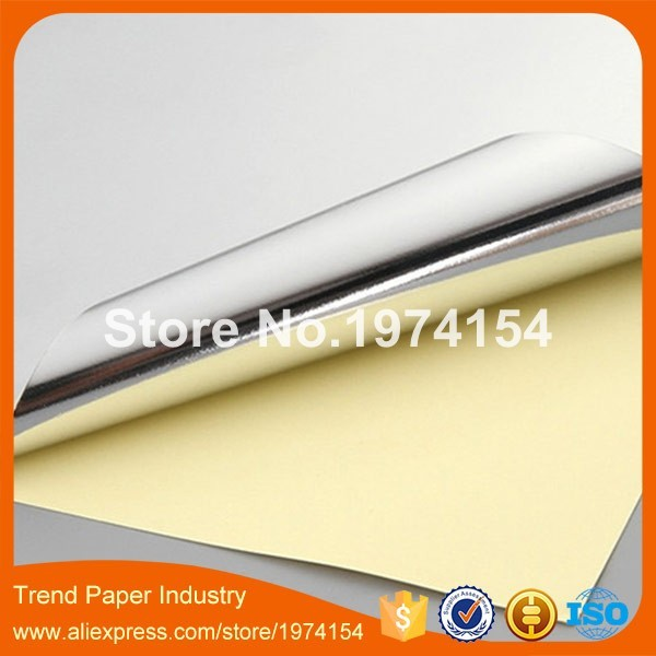 US $20 92 7% OFF|75 sheets/lot A4 Self Adhesive Silver Aluminum Foil  Printing Paper Copy Sticker Label Paper For Laser Printer-in Printer  Ribbons from