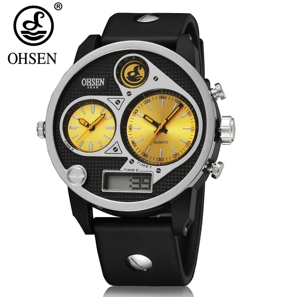 Original OHSEN LCD Men's Watch 5ATM Waterproof 1