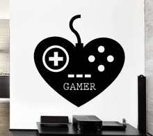 Wall Decal Gamer Gaming Play Room Video Games Kids Room Vinyl Decal Home Drcoration Vinyl Art Wallpaper for Kids NY-249
